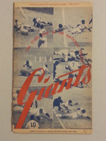 1954 Giants Game Program vs Pirates (24 pg) Unscored Fair [All pages seperated at binding but present, sm tear on scorecard]