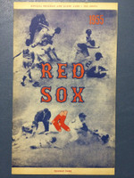 1955 Red Sox Program vs White Sox (24 pg) Unscored Near-Mint [Super clean]