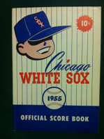 1955 White Sox Game Program vs Red Sox (28 pg) Scored 5 INN July 22 - Harshman vs Brewer (Chi 10-7, HR Carrasquel) Excellent to Mint [Very clean]