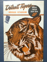 1956 Tigers Program vs Orioles (24 pg) Scored July 24 G2 - Miller vs Ferrarese (Bal 11-5, Kuenn 3 Hits) Excellent [Stray WRT on scorecard, Inc Press Notes for Harwell, sl tear on cover]