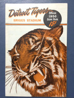 1956 Tigers Program vs Orioles (24 pg) Scored July 24 G1 - Foytack vs Johnson (Det 9-7, HR Kaline #16) Excellent [Stray WRT on scorecard, sl spotting on cover, ow very sharp]