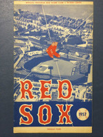 1957 Red Sox Program vs Tigers (24 pg) Unscored Near-Mint [Very clean]