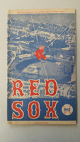 1957 Red Sox Program vs White Sox (24 pg) Unscored Jun 27 Sullivan vs Harshman (Bos 8-3, Williams 1 for 3) Excellent [No scoring, line score and game totals noted; very clean]