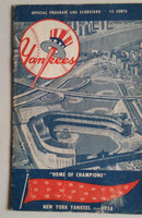 1958 Yankees Program vs Senators (24 pg) Scored May 11 Shantz vs Stobbs (NY 4-3, Skowron 2 Hits) Very Good [Non detailed scoring, scorecard detached but present; wear on cover]
