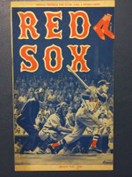 1959 Red Sox Program vs Indians (24 pg) Unscored Excellent to Excellent Plus [Sl wear on cover, contents very clean]