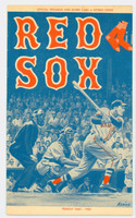 1959 Red Sox Program vs Athletics (24 pg) Scored June 12 - Sullivan vs Coleman (KC 3-2, HR Chiti) Excellent to Excellent Plus [Very clean]
