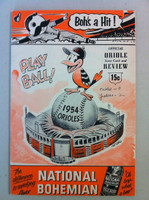 1954 Orioles Program DEBUT SEASON vs Yankees 36 pg Unscored Very Good [Lt wear on cover, rev cover has crease and sl paper loss; contents fine]
