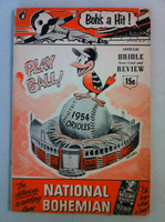 1954 Orioles Program DEBUT SEASON vs Yankees 36 pages Unscored Very Good [Creasing on reverse cover, contents fine]