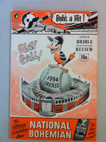 1954 Orioles Program DEBUT SEASON vs Yankees - 36 pg - Unscored Excellent to Excellent Plus [Very clean, sl compact fold on cover]