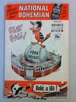 1954 Orioles Program DEBUT SEASON vs Yankees -36 pg Unscored Good to Very Good [Wear on both covers, cover crease; contents fine]