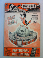 1954 Orioles Program DEBUT SEASON vs Chicago White Sox (36 pg) Unscored Very Good [Lt wear on both covers, vert compact fold; contents fine]