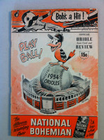 1954 Orioles Program DEBUT SEASON vs White Sox (36 pg) Unscored Good to Very Good [Lt wear on both covers, minor staining; contents fine]