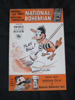 1955 Orioles Program vs Red Sox (24 pages) Unscored Very Good to Excellent [Lt vert compact fold line, ow very clean]