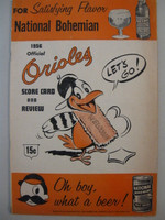 1956 Orioles Program vs Red Sox (20 pg) Scored May 30 Moore v Delock Good to Very Good [Heavy wear on cover, scored in red pen]