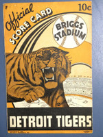 1940 Tigers Program vs Browns - Unscored Very Good to Excellent [Minor wear throughout, ow very clean]