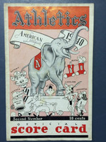 1940 Athletics Program vs Indians (16 pg) Unscored Good to Very Good [Some soiling on cover, horiz crease, minor lineup notations in pencil]