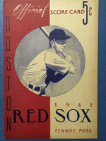 1941 Red Sox Program vs Yankees (16 pg) Unscored Near-Mint [Very minor toning, otherwise super clean]