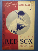 1941 Red Sox Program vs White Sox (16 pg) Unscored Very Good to Excellent [Minor discoloration on cover, sl toning, contents super clean]