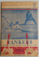 1944 Yankees Program vs Athletics (16 pg) Scored Sep 17 Dubiel vs Black (Phi 2-1, Paul Waner SB) Very Good to Excellent [Heavy toning on all pages, neatly scored; wear along binding]