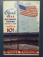 1944 Tigers Scorecard vs White Sox (8 pg) Scored May 7 - Newhouser vs Dietrich (Chi 4-1, HR York #2) Very Good to Excellent [Game notations on cover, non-detailed scoring]