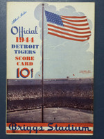 1944 Tigers Scorecard vs Browns (8 pg) Scored August 27 - Newhouser vs Muncrief (Det 5-3, Newhouser CG 21-8) Excellent to Excellent Plus [Clean throughout]