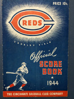 1944 Reds Program vs Cardinals (20 pg) Unscored Very Good [Vert compact fold, scuffing and chipping, contents fine]