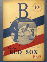 1945 Red Sox Program vs Browns (16 pg) Unscored Very Good to Excellent [Toning on cover, sl tears; contents super clean]