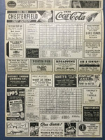 1945 Tigers Scorecard vs Red Sox (8 pg) Scored May 13 - Trout vs Ferriss (Bos 8-2, Ferriss CG 3-0) Excellent [Game notes in pencil on cover; non detailed scoring]