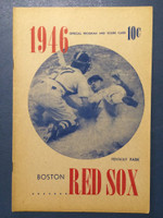 1946 Red Sox Program vs White Sox (16 pg) Unscored Excellent [Minor chipping, ow very clean]