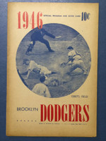 1946 Dodgers Program vs Cubs (16 pg) Unscored Very Good [Lt wear, sm tear on cover, sl toning]