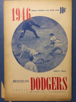 1946 Dodgers Program vs Cardinals (16 pg) Unscored Good [Sm tears on bottom of pages, lt toning, contents fine]