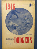1946 Dodgers Program vs Pirates (16 pg) Unscored Very Good to Excellent [Toning on cover, contents very clean]