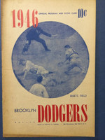 1946 Dodgers Program vs Braves (16 pg) Unscored Very Good to Excellent [Toning on cover, contents very clean]
