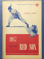 1947 Red Sox Program vs Athletics (16 pg) Unscored Excellent to Mint [Sl toning on cover, contents super clean]