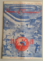 1949 Yankees Program vs Red Sox (24 pg) Scored Sep 7 Reynolds vs Kramer (NY 5-2, Reynolds 15-4) Very Good to Excellent [Sl warp from original fold, ow clean; detailed but chaotic scoring]