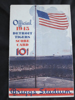 1945 Tigers Scorecard vs Red Sox 8 pg - Unscored Good to Very Good [Lt vert compact fold line; sl soiling on cover; PRESS stamp]