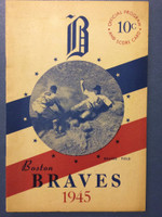 1945 Braves Program vs Phillies (16 pages) Unscored Excellent [Lt handling, ow very sharp]