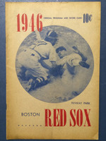 1946 Red Sox Program vs Tigers - 16 pg Unscored Very Good to Excellent [Toning on cover, sl tear; contents super clean]