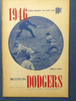 1946 Dodgers Program vs Phillies (16 pages) Unscored Very Good to Excellent [Toning on cover, contents very clean]