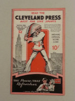 1937 Indians Game Program vs White Sox (12 pg) Scored May 29 - Allen vs Dietrich (Chi 15-3, HR Averill) Near-Mint [Very nice condition for the vintage, neatly scored]