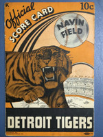 1937 Tigers Program vs Senators Unscored Very Good [Wear on bindings, pages intact]