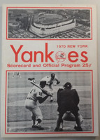 1970 Yankees Program vs Indians (20 pg) Scored Sep 6 Peterson vs Paul (NY 4-1, Peterson Wins #17) Excellent [Very light wear, neatly scored]