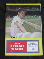1970 Tigers Scorebook vs Angels (60 pg) Scored June 14 - Wilson vs Wright (Det 8-4, HR Horton, Cash) Very Good [Cover wear, creasing; sl tear on binding; contents fine]