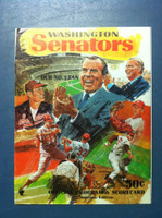 1970 Senators Program vs Tigers (40 pg) Unscored Excellent [Sl crease on top corner, contents like new]