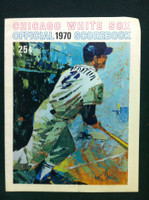 1970 White Sox Game Program vs Twins (36 pg) Unscored Series Played Apr 7-9 Very Good to Excellent [Lt wear and creasing on both covers; contents fine]