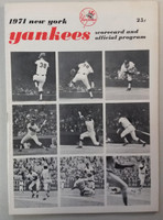 1971 Yankees Program vs Indians (28 pg) Scored Jun 28 Game 1 Peterson vs Lamb (Cle 3-0, Peterson CG loss) Excellent [Immaculate scoring, very clean]