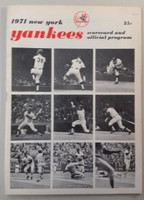 1971 Yankees Program vs Orioles (28 pg) Scored Aug 6 Peterson vs Dobson (NY 12-3, HR Murcer) Excellent [Very light wear, very neatly scored]
