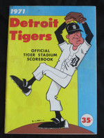 1971 Tigers Scorebook vs Athletics (60 pg) Partial Scored 2 1/2 INN July 24 Cain vs Odom (Oak 7-2, HR Bando) Very Good to Excellent [Sl Staining on cover, contents great]
