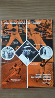 1971 BB Program Orioles vs Athletics (38 pg) Scored Jul 27 Dobson vs Hunter (Bal 1-0, Dobson 14-4) Near-Mint [Very lt wear, scored in pen]