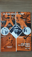 1971 BB Program Orioles vs Brewers (38 pg) Unscored Orioles LINE UP WRT in Pen Very Good [Lt wear and creasing, period markings]